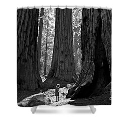 Girl And Giants Shower Curtain