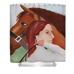 Girl And Her Horse Shower Curtain