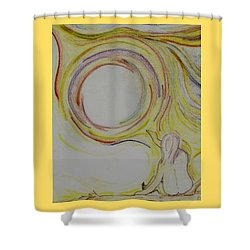 Girl And Universe Creative Connection Shower Curtain