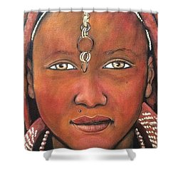 Girl From Africa Shower Curtain by Jenny Pickens