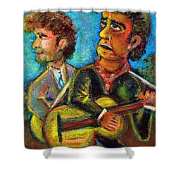 Girl From North Country Johnny Cash And Bob Dylab Shower Curtain by Jason Gluskin