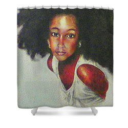Girl From The Island Shower Curtain by G Cuffia
