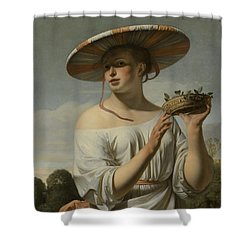 Girl In A Large Hat, C.1645-1650 Shower Curtain