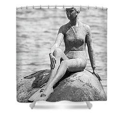 Girl In A Wetsuit Shower Curtain