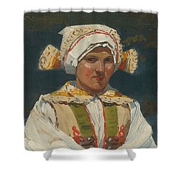Girl In Costume, Antos Frolka, 1910 Shower Curtain
