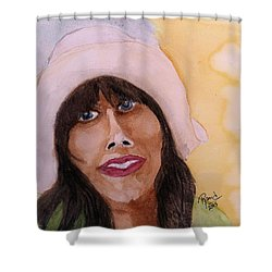 Girl In Hat Shower Curtain