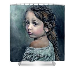 Girl In Lace Shower Curtain