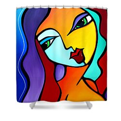 Girl Like You Shower Curtain
