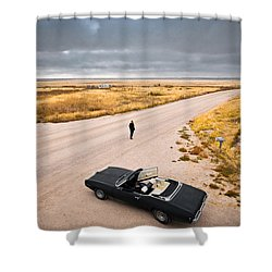 Girl Of The Golden West Shower Curtain