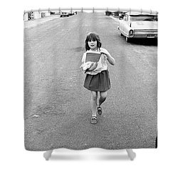Girl On 13th Street, 1971 Shower Curtain