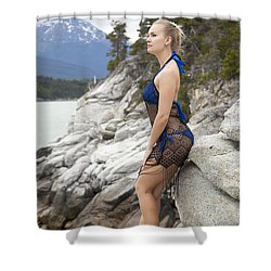 Girl On The Edge Shower Curtain