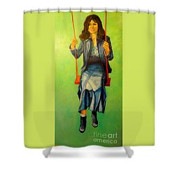 Girl On The Swing  80x160 Cm Shower Curtain