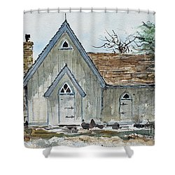 Girl Scout Little House Shower Curtain by Monte Toon