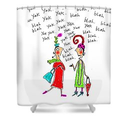 Girl Talk Shower Curtain