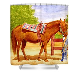Girl Talk Shower Curtain by Stacy C Bottoms