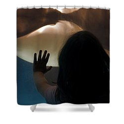 Girl Vs Whale Shower Curtain