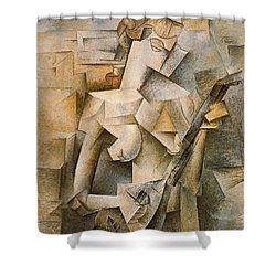 Girl With A Mandolin Shower Curtain by Picasso