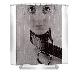 Shower Curtain featuring the photograph Girl With Big Eyes by Michael Edwards