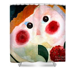 Girl With Buttercups Shower Curtain by Pg Reproductions