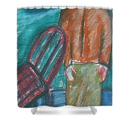 Girl With Chair Shower Curtain