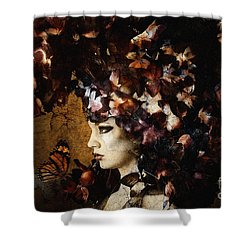 Girl With Flower Hat Shower Curtain