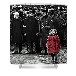 Girl With Red Coat Publicity Photo Schindlers List 1993 Shower Curtain