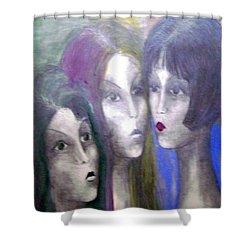 Girl Shower Curtain by Wojtek Kowalski