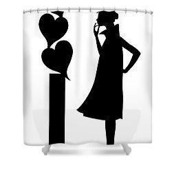Girl_02 Shower Curtain