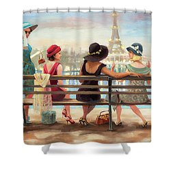 Shower Curtain featuring the painting Girls Day Out by Steve Henderson