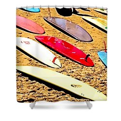 Surfboards. Shower Curtain
