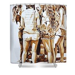 Girls Summer Fun Shower Curtain