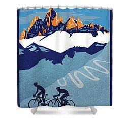 Giro D'italia Cycling Poster Shower Curtain by Sassan Filsoof