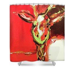 Giselle The Giraffe Shower Curtain