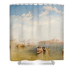 Giudecca La Donna Della Salute And San Giorgio  Shower Curtain by Joseph Mallord William Turner