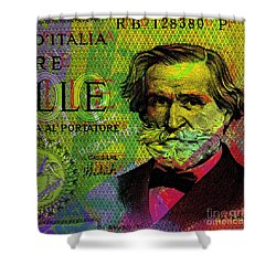 Giuseppe Verdi Portrait Banknote Shower Curtain