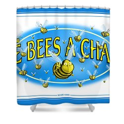 Give Bees A Chance Shower Curtain