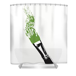 Give God Glory  Shower Curtain