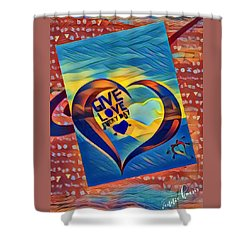 Give Love Shower Curtain