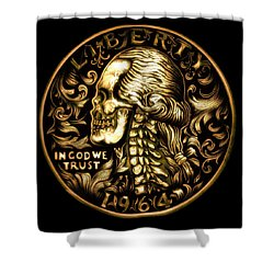 Give Me Liberty Or Give Me Death Shower Curtain by Fred Larucci