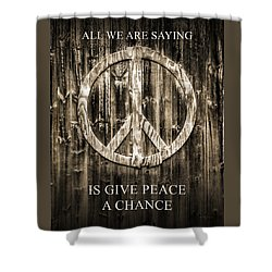 Shower Curtain featuring the photograph Give Peace A Chance by Betty Denise