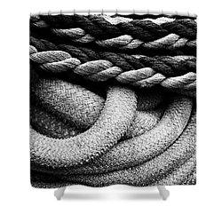 Give Them Some Rope Shower Curtain by Skip Hunt
