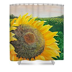Shower Curtain featuring the painting Giver Of Life by Susan DeLain