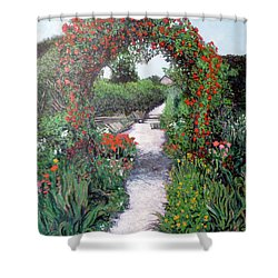 Giverney Garden Path Shower Curtain by Tom Roderick