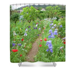Giverny Monet's Garden Shower Curtain