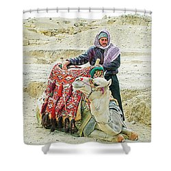 Giza Camel Taxi Shower Curtain