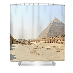 Shower Curtain featuring the photograph Giza by Silvia Bruno