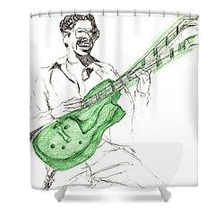 Gj Guitar  Shower Curtain