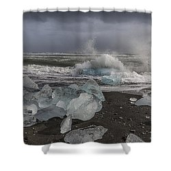 Glacial Lagoon Iceland 2 Shower Curtain