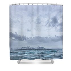 Glacial Lagoon Iceland Shower Curtain