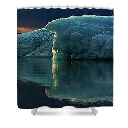 Glacial Lagoon Reflections Shower Curtain by Allen Biedrzycki